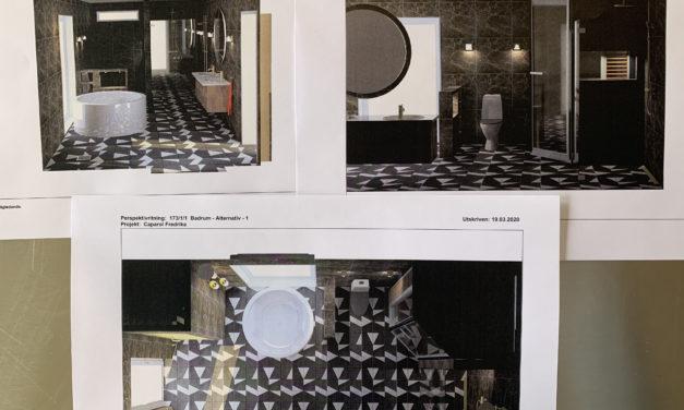 Vad tror ni om vårt nya badrum? För mörkt?
