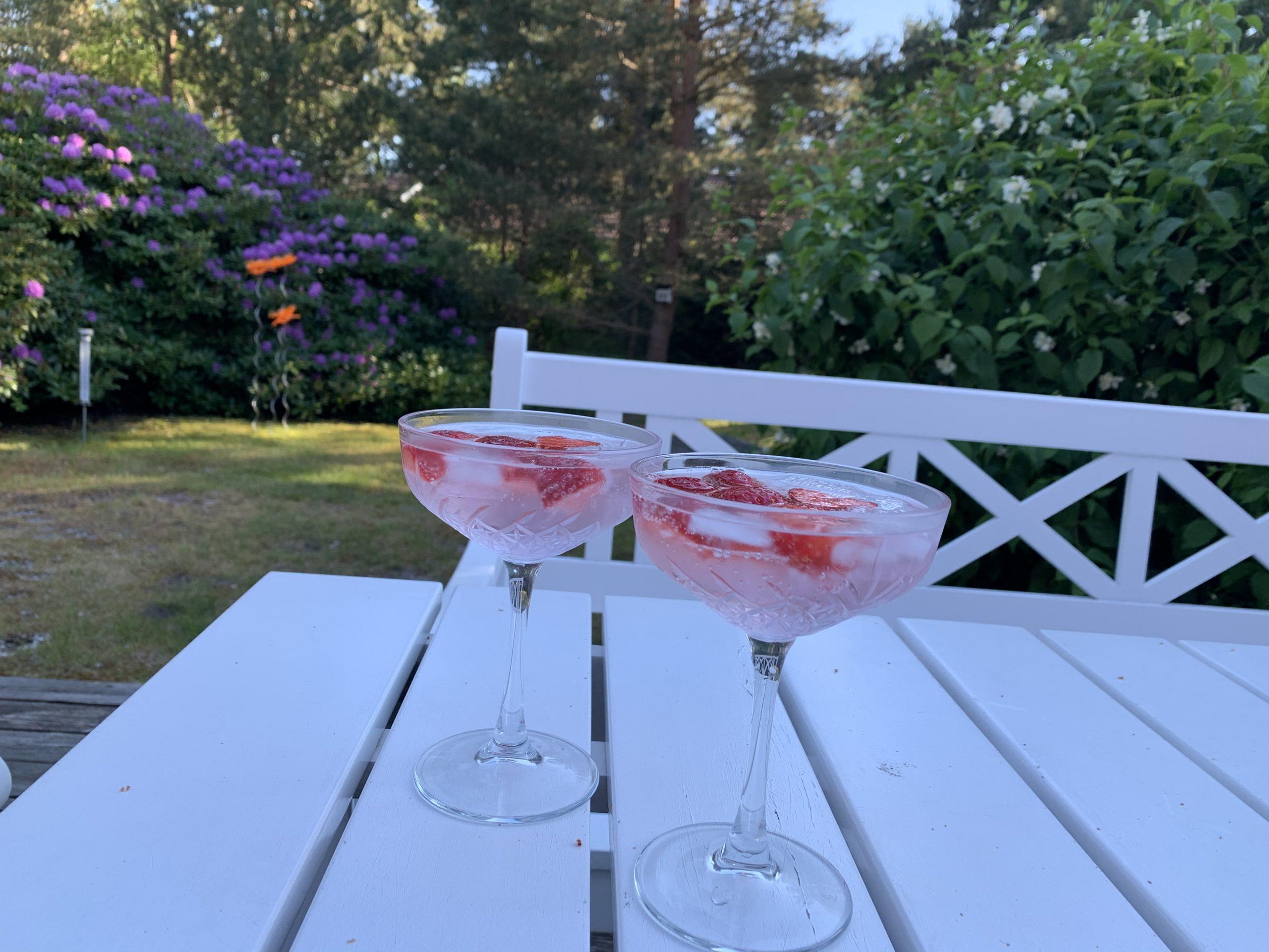 Pink gin i sommarhuset