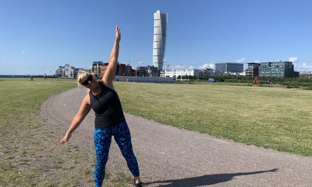 Klara och jag tränar agility – utan hund!!