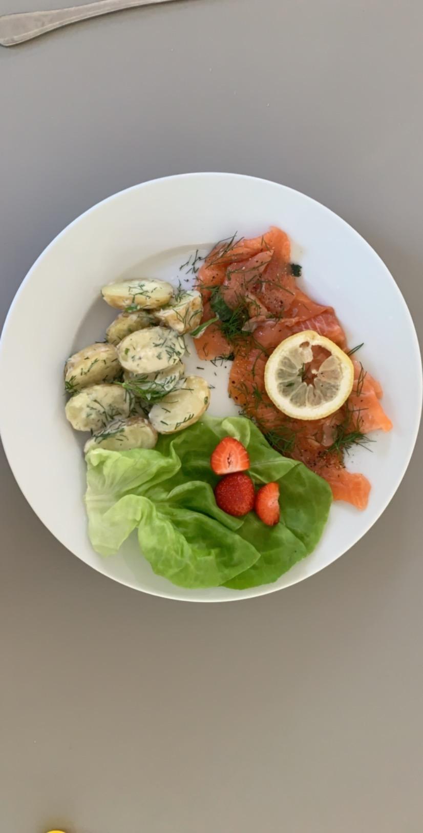 Gingravad lax och dillstuvad potatis – mums!