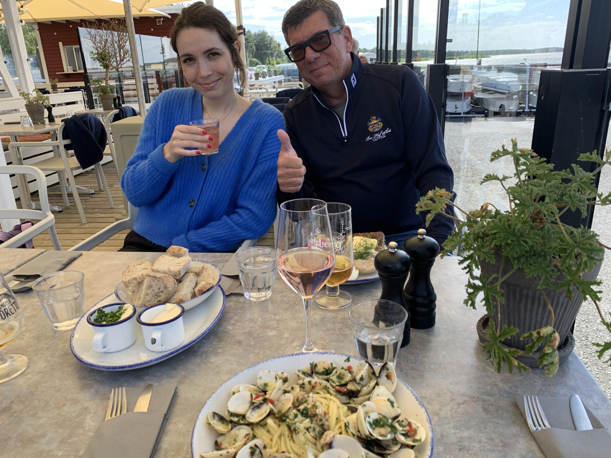 På Barporto med Valter och Caroline