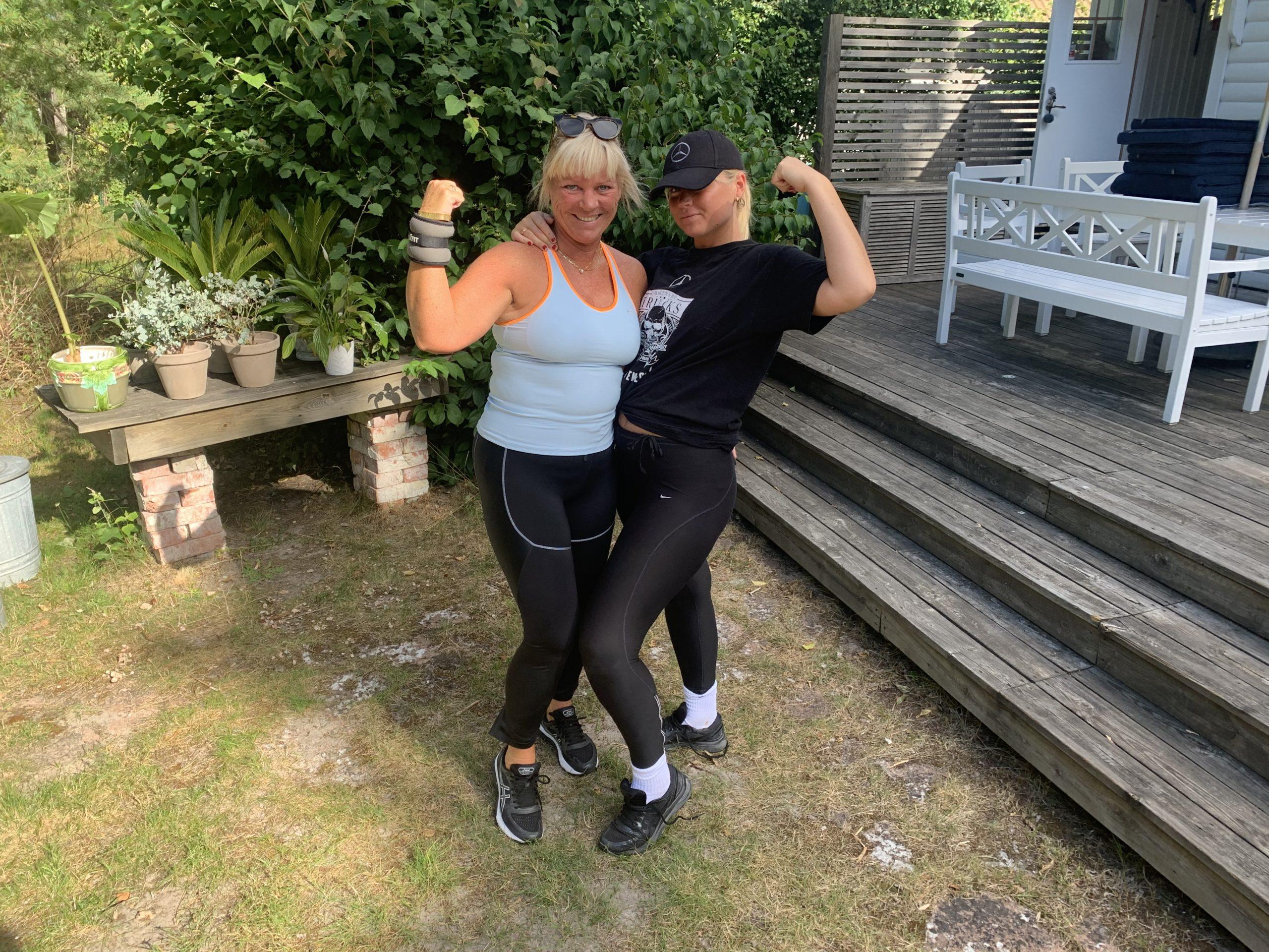 Klara och jag har tränat