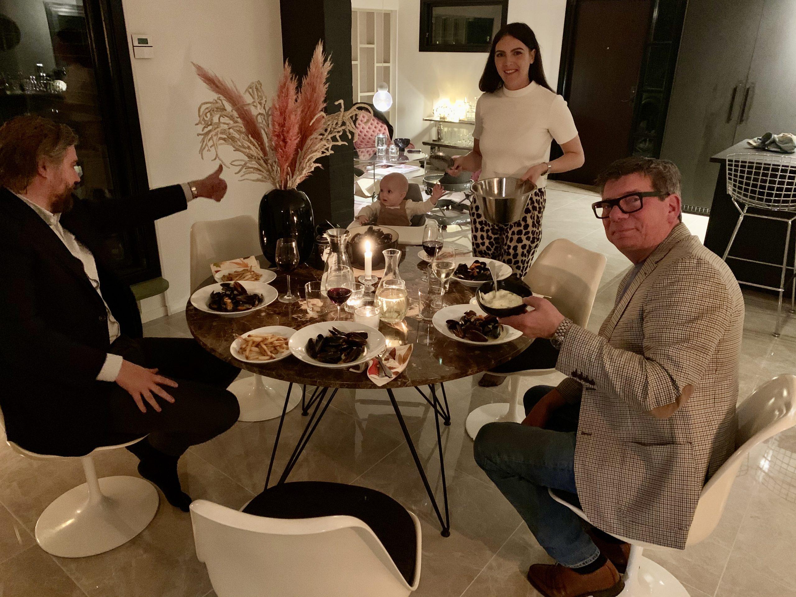 Underbar middag hos Isabell, Joakim och lilla Rio