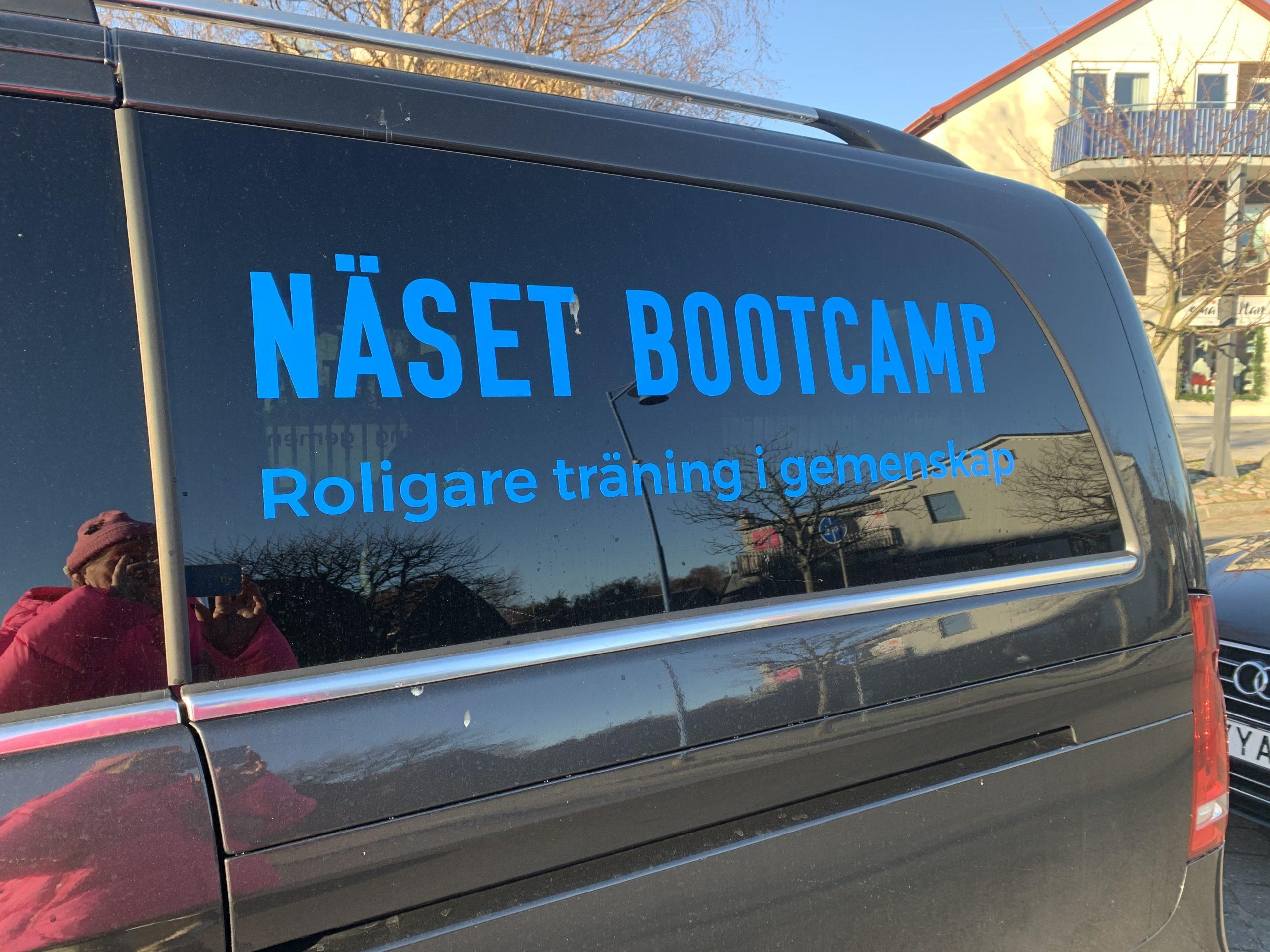 Näset Bootcamp bil på plats