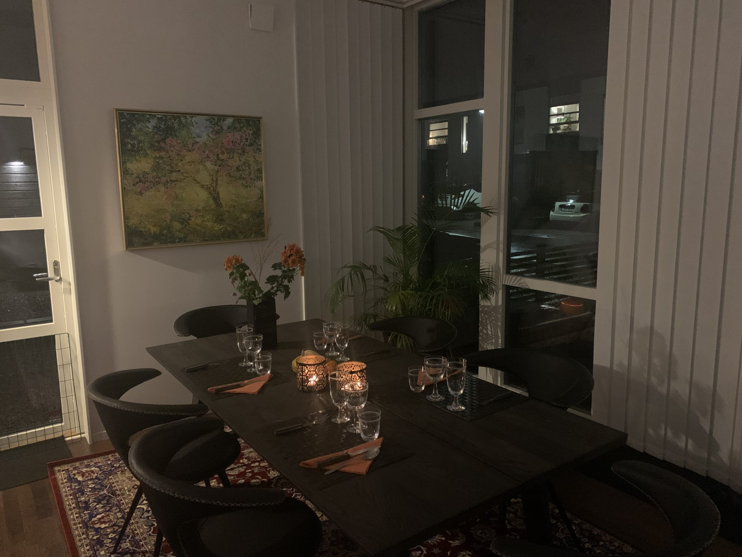 Mysig halloween-middag