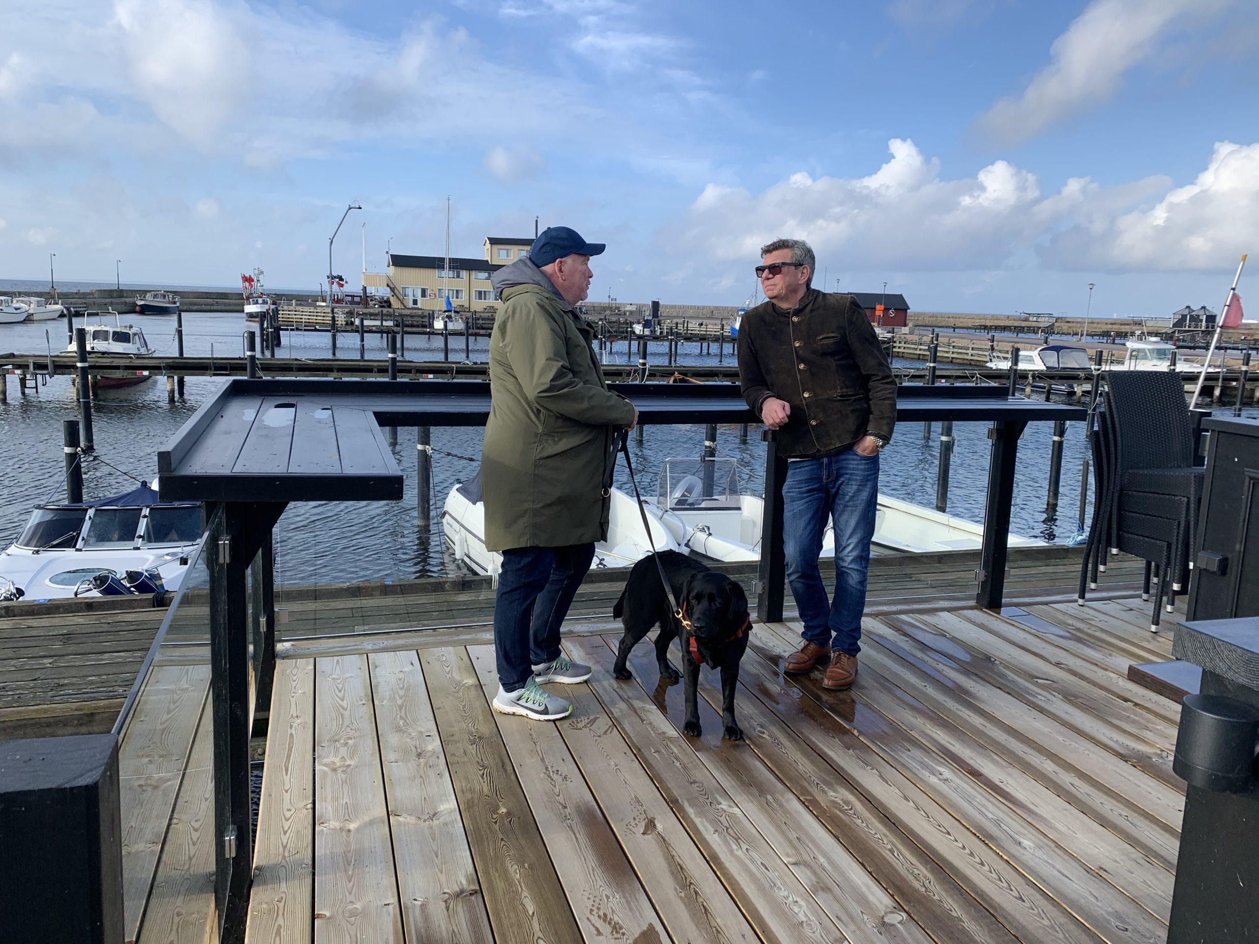 Jonny och Ricky i Barsebäcks hamn