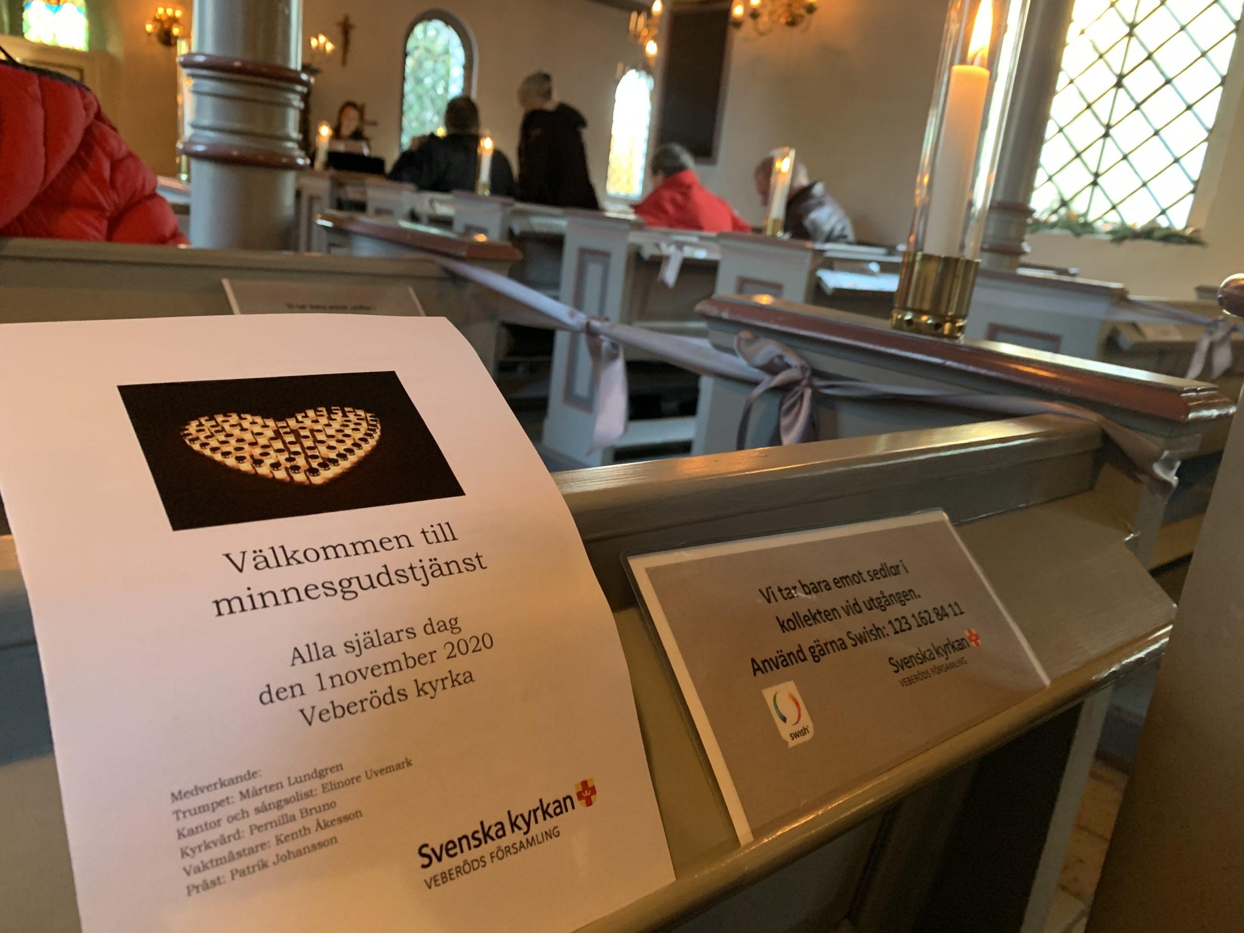 Minnesgudstjänst i Veberöds kyrka