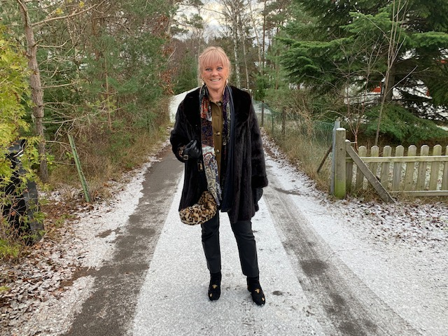 I snöigt landskap i Höllviken
